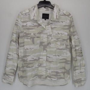 Sanctuary Cotton Hi/Lo Shirt Jacket Neutral Camo
